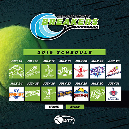 2019 Calendar Orange County Breakers