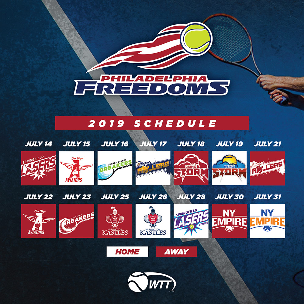 2019 Calendar Philadelphia Freedoms