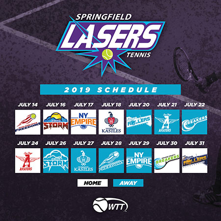 2019 Calendar Springfield Lasers