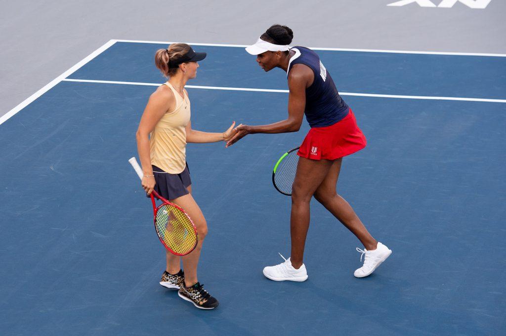 Марта Костюк сыграла в паре с Винус Уильямс на выставочном турнире в США