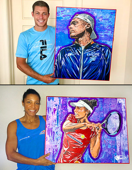 Neal Skupski Raquel Atawo with Art